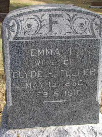 FULLER, EMMA L. - Burt County, Nebraska   EMMA L. FULLER - Nebraska Gravestone Photos