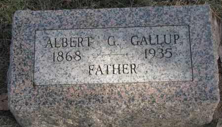 GALLUP, ALBERT G. - Burt County, Nebraska | ALBERT G. GALLUP - Nebraska Gravestone Photos