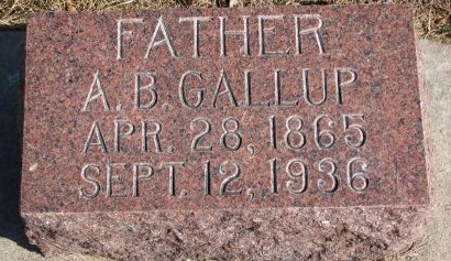GALLUP, ALBERT BURLINGAME - Burt County, Nebraska | ALBERT BURLINGAME GALLUP - Nebraska Gravestone Photos