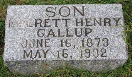 GALLUP, EVERETT HENRY - Burt County, Nebraska   EVERETT HENRY GALLUP - Nebraska Gravestone Photos