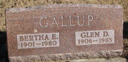 GALLUP, GLEN D. - Burt County, Nebraska   GLEN D. GALLUP - Nebraska Gravestone Photos