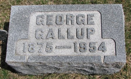 GALLUP, GEORGE - Burt County, Nebraska | GEORGE GALLUP - Nebraska Gravestone Photos