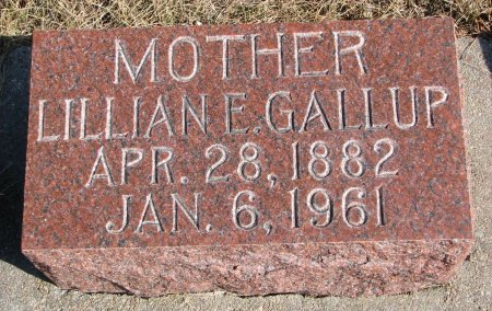 GALLUP, LILLIAN E. - Burt County, Nebraska | LILLIAN E. GALLUP - Nebraska Gravestone Photos