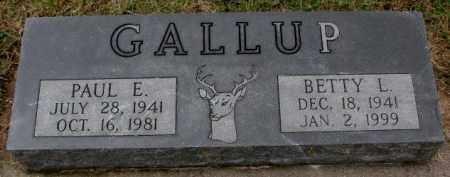 GALLUP, PAUL E. - Burt County, Nebraska | PAUL E. GALLUP - Nebraska Gravestone Photos