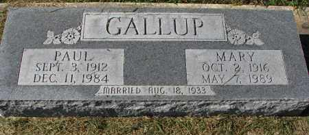 GALLUP, MARY - Burt County, Nebraska | MARY GALLUP - Nebraska Gravestone Photos