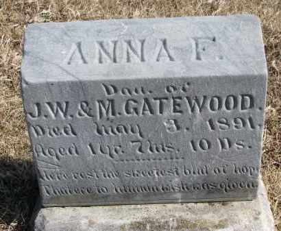 GATEWOOD, ANNA F. - Burt County, Nebraska | ANNA F. GATEWOOD - Nebraska Gravestone Photos