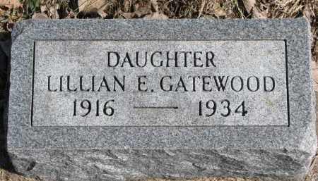 GATEWOOD, LILLIAN EMMA - Burt County, Nebraska | LILLIAN EMMA GATEWOOD - Nebraska Gravestone Photos