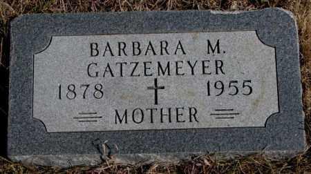 GATZEMEYER, BARBARA M. - Burt County, Nebraska | BARBARA M. GATZEMEYER - Nebraska Gravestone Photos