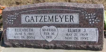 GATZEMEYER, ELIZABETH - Burt County, Nebraska   ELIZABETH GATZEMEYER - Nebraska Gravestone Photos