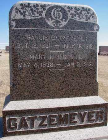 GATZEMEYER, MARY M. - Burt County, Nebraska | MARY M. GATZEMEYER - Nebraska Gravestone Photos