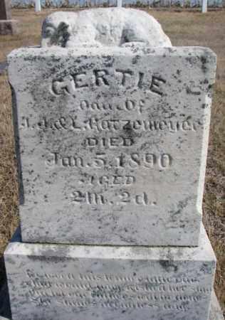 GATZEMEYER, GERTIE - Burt County, Nebraska | GERTIE GATZEMEYER - Nebraska Gravestone Photos