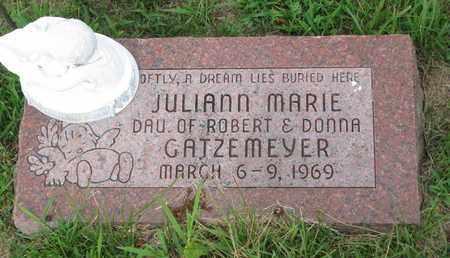 GATZEMEYER, JULIANN MARIE - Burt County, Nebraska | JULIANN MARIE GATZEMEYER - Nebraska Gravestone Photos