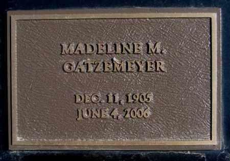 GATZEMEYER, MADELINE M. - Burt County, Nebraska | MADELINE M. GATZEMEYER - Nebraska Gravestone Photos