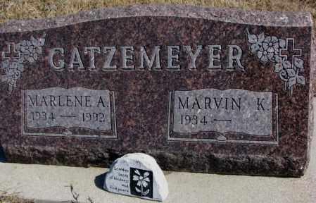 GATZEMEYER, MARLENE A. - Burt County, Nebraska | MARLENE A. GATZEMEYER - Nebraska Gravestone Photos
