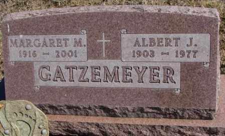 GATZEMEYER, ALBERT J. - Burt County, Nebraska | ALBERT J. GATZEMEYER - Nebraska Gravestone Photos