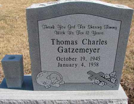 GATZEMEYER, THOMAS CHARLES - Burt County, Nebraska | THOMAS CHARLES GATZEMEYER - Nebraska Gravestone Photos