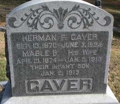 GAVER, HERMAN F. - Burt County, Nebraska | HERMAN F. GAVER - Nebraska Gravestone Photos