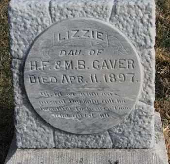 GAVER, LIZZIE - Burt County, Nebraska | LIZZIE GAVER - Nebraska Gravestone Photos