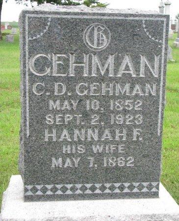 GEHMAN, C.D. - Burt County, Nebraska   C.D. GEHMAN - Nebraska Gravestone Photos