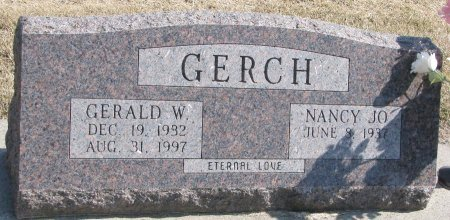 GERCH, NANCY JO - Burt County, Nebraska | NANCY JO GERCH - Nebraska Gravestone Photos