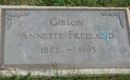 FREELAND GIBSON, ANNETTE - Burt County, Nebraska | ANNETTE FREELAND GIBSON - Nebraska Gravestone Photos