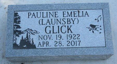 LAUNSBY GLICK, PAULINE EMELIA - Burt County, Nebraska | PAULINE EMELIA LAUNSBY GLICK - Nebraska Gravestone Photos