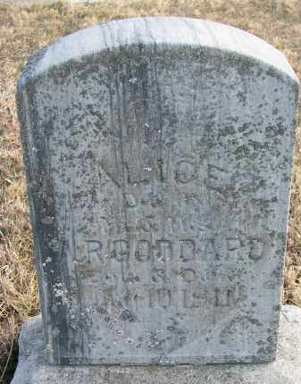 GODDARD, ALICE - Burt County, Nebraska | ALICE GODDARD - Nebraska Gravestone Photos