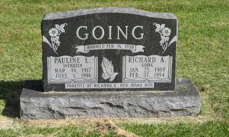 GOING, RICHARD A. - Burt County, Nebraska | RICHARD A. GOING - Nebraska Gravestone Photos