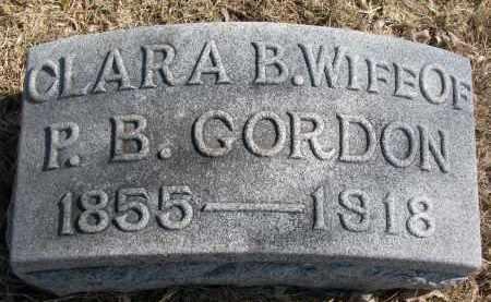 GORDON, CLARA B. - Burt County, Nebraska | CLARA B. GORDON - Nebraska Gravestone Photos