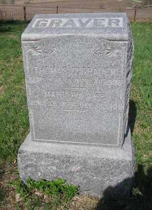 GRAVER, THOMAS CHRISTENSEN - Burt County, Nebraska | THOMAS CHRISTENSEN GRAVER - Nebraska Gravestone Photos