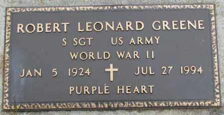 GREENE, ROBERT LEONARD - Burt County, Nebraska | ROBERT LEONARD GREENE - Nebraska Gravestone Photos