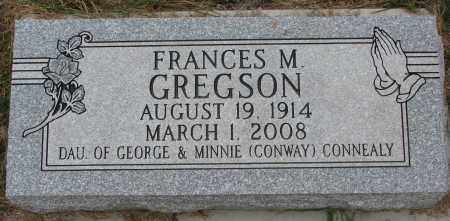 GREGSON, FRANCES M. - Burt County, Nebraska | FRANCES M. GREGSON - Nebraska Gravestone Photos