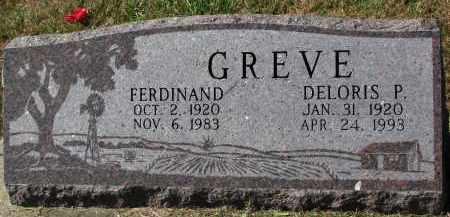 GREVE, FERDINAND - Burt County, Nebraska | FERDINAND GREVE - Nebraska Gravestone Photos