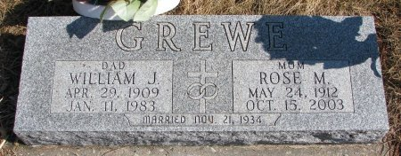 GREWE, WILLIAM JOSEPH - Burt County, Nebraska | WILLIAM JOSEPH GREWE - Nebraska Gravestone Photos