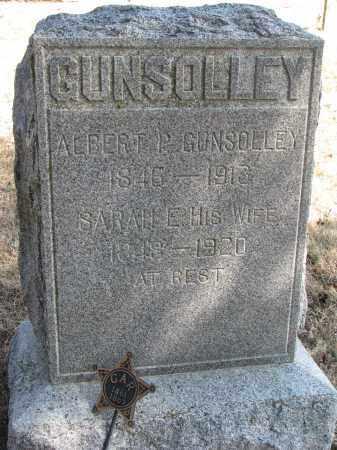 GUNSOLLEY, ALBERT P. - Burt County, Nebraska | ALBERT P. GUNSOLLEY - Nebraska Gravestone Photos