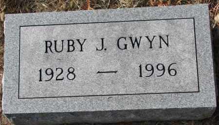 GWYN, RUBY J. - Burt County, Nebraska | RUBY J. GWYN - Nebraska Gravestone Photos