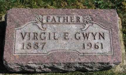 GWYN, VIRGIL E. - Burt County, Nebraska   VIRGIL E. GWYN - Nebraska Gravestone Photos