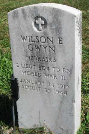 GWYN, WILSON E. - Burt County, Nebraska | WILSON E. GWYN - Nebraska Gravestone Photos