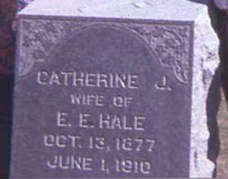 HALE, CATHERINE J. - Burt County, Nebraska | CATHERINE J. HALE - Nebraska Gravestone Photos