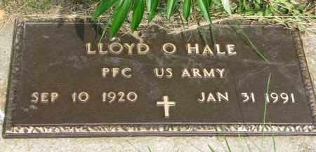 HALE, LLOYD O. (MILITARY) - Burt County, Nebraska | LLOYD O. (MILITARY) HALE - Nebraska Gravestone Photos