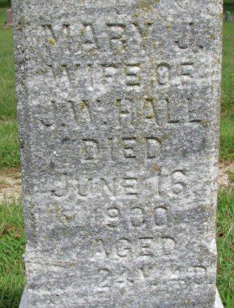 HALL, MARY J. (CLOSE UP) - Burt County, Nebraska | MARY J. (CLOSE UP) HALL - Nebraska Gravestone Photos