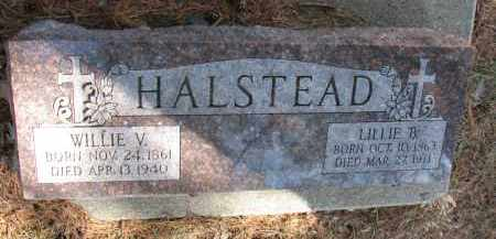 HALSTEAD, WILLIE V. - Burt County, Nebraska | WILLIE V. HALSTEAD - Nebraska Gravestone Photos