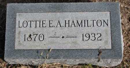 HAMILTON, LOTTIE E.A. - Burt County, Nebraska   LOTTIE E.A. HAMILTON - Nebraska Gravestone Photos