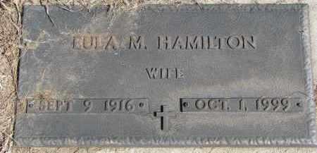 HAMILTON, LULA M. - Burt County, Nebraska | LULA M. HAMILTON - Nebraska Gravestone Photos