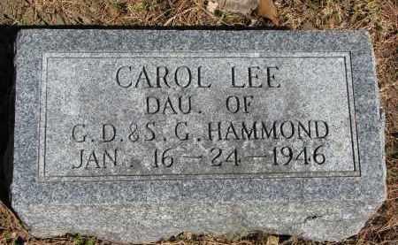HAMMOND, CAROL LEE - Burt County, Nebraska   CAROL LEE HAMMOND - Nebraska Gravestone Photos