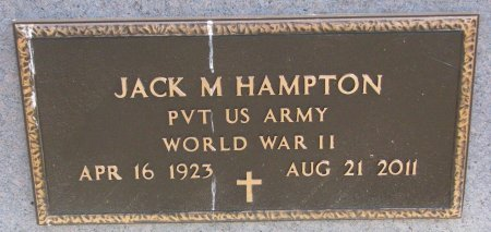 HAMPTON, JACK M. (MILITARY) - Burt County, Nebraska | JACK M. (MILITARY) HAMPTON - Nebraska Gravestone Photos