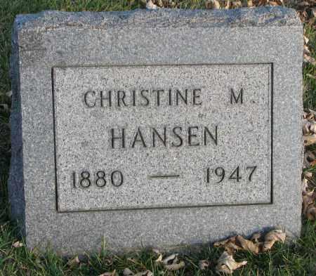 HANSEN, CHRISTINE M. - Burt County, Nebraska | CHRISTINE M. HANSEN - Nebraska Gravestone Photos