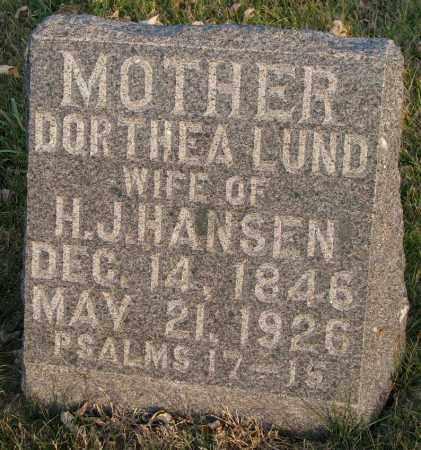 HANSEN, DORTHEA - Burt County, Nebraska | DORTHEA HANSEN - Nebraska Gravestone Photos