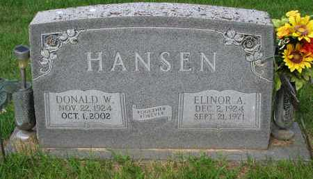 HANSEN, DONALD W. - Burt County, Nebraska   DONALD W. HANSEN - Nebraska Gravestone Photos