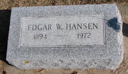 HANSEN, EDGAR W. - Burt County, Nebraska   EDGAR W. HANSEN - Nebraska Gravestone Photos